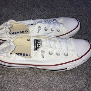 Converse White low rise sneakers